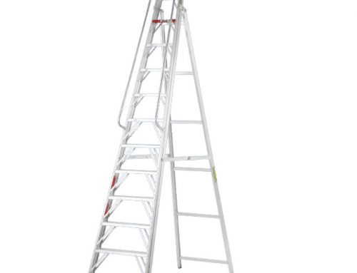 Large Step Ladder with rails