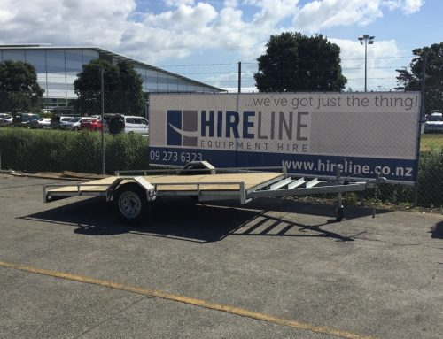 Flat bed trailer – single axel